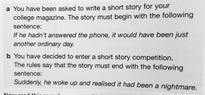 short story 3 cambridge